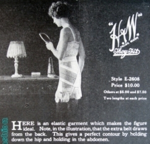 1924 april short photo H W flattening corset p 111