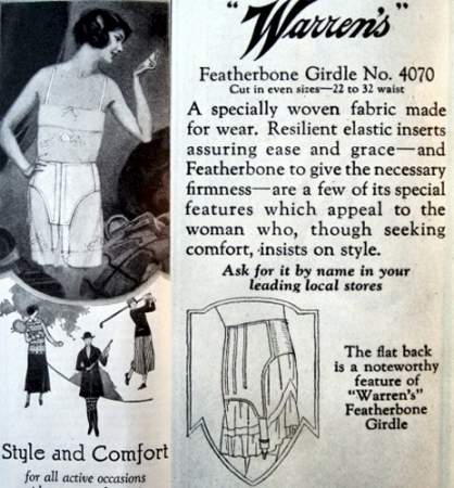 Warren's Featherbone Girdle for Sports, 1924