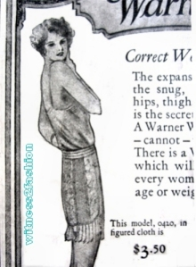 Warner's Wrap-Around Corset Ad, 1925