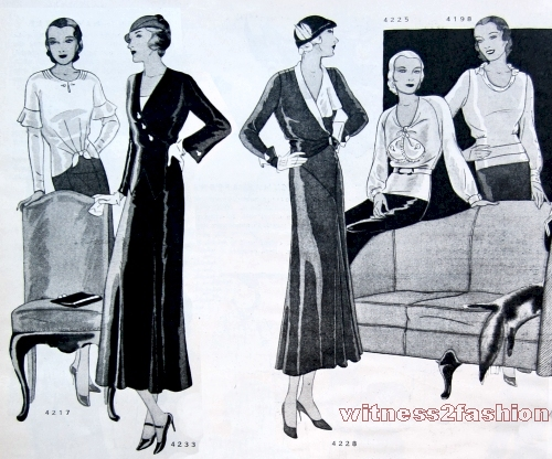 Delineator, Dec. 1931 p 70 dresses, blouses