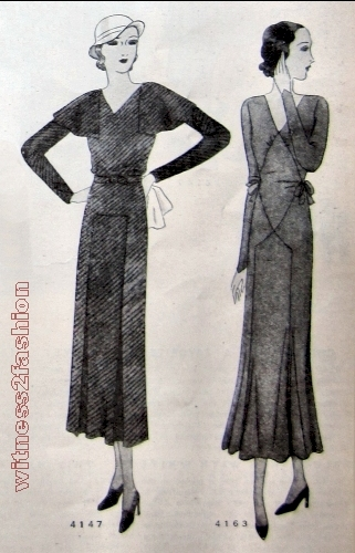 Two Day Dresses from December 1931, Delineator