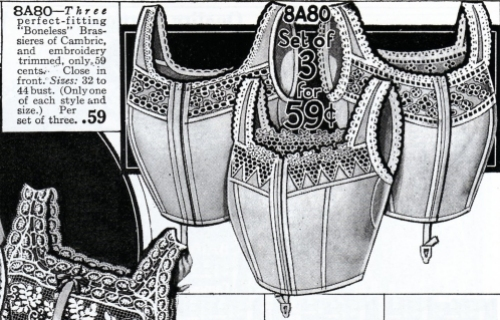Boneless Brassieres from the Perry, Dame & Co. Catalog, 1917