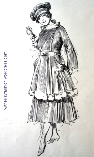 "A chic Paris costume for a 'very young lady"" by Mme. Paquin, 1917. Delineator."