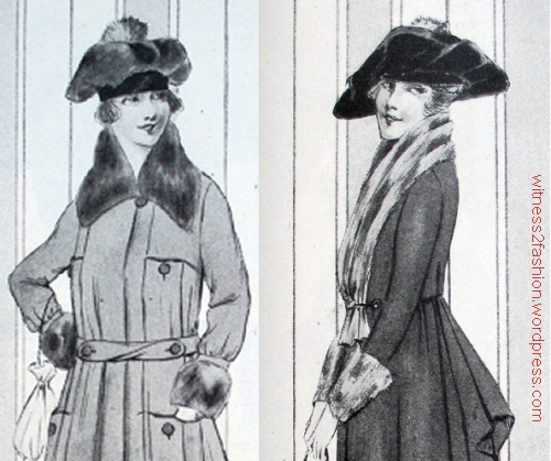 A tam made of fur and a tam made of velvet; Ladies' Home Journal, Nov. 1917.