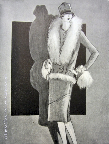 Paquin model imported by Hattie Carnegie; Delineator, Dec. 1926.