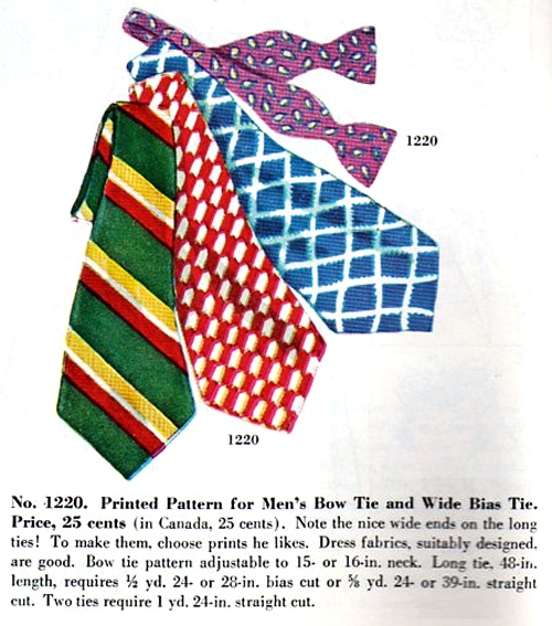 McCall #1220, as illustrated in November 1950 store catalog.
