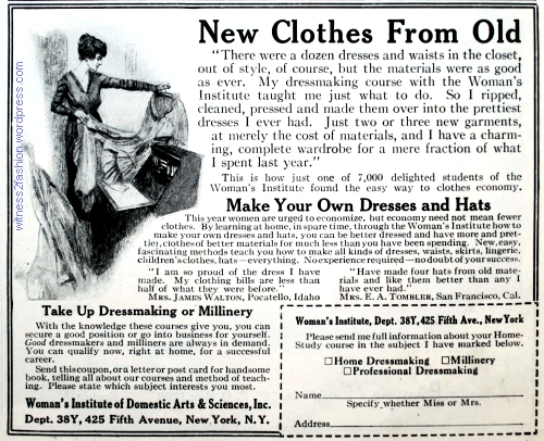 Woman's Institute ad, Ladies' Home Journal, Nov. 1917.