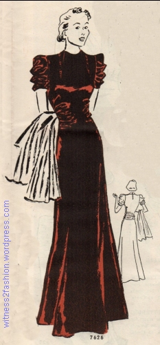 Companion-Butterick pattern 7626, from Butterick Fashion News flyer, Dec. 1937.