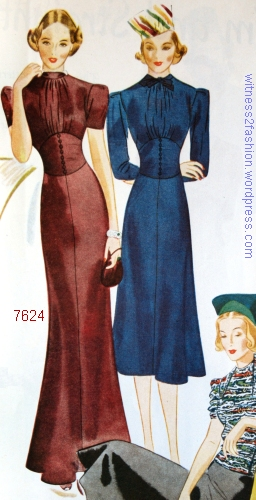 "Companion-Butterick pattern 7624, ""That Corseted Look,"" WHC Nov. 1937."