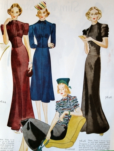 """That Corseted Look:"" Companion-Butterick patterns from Woman's Home Companion, Nov. 1937."