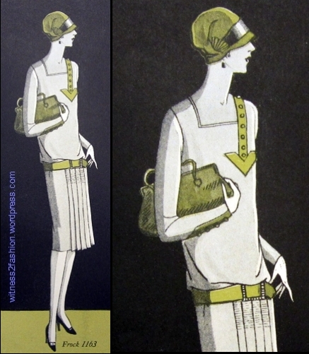 Butterick pattern 1163, Delineator, 1926.
