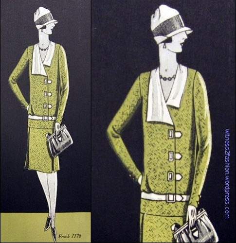 Butterick pattern 1176, delineator, December 1926.