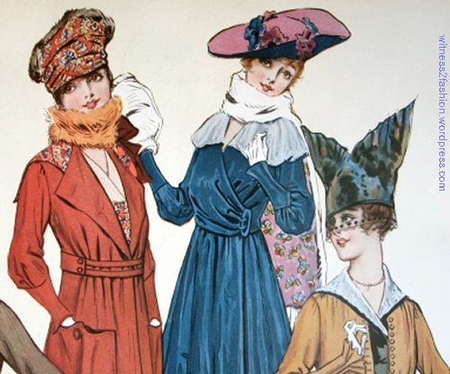 Detail of color illustration, Feb. 1917.