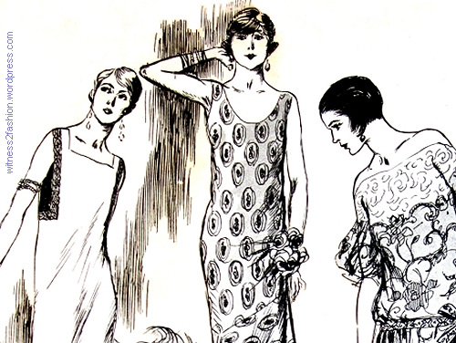 April 1924, Paris fashion sketches by Soulie.