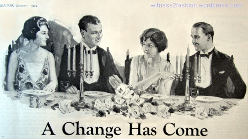 Dinner Party from a Toothpaste Ad, Delineator magazine, January, 1924.