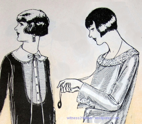 March 1924, Delineator. Butterick pattern illustrations.