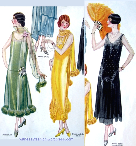 November 1924: Three hair styles seen together in one  Butterick pattern illustration. Delineator,  p. 27.
