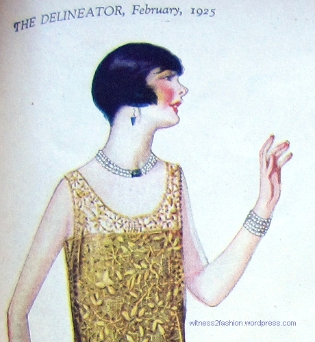 Hair cut to a point in back, February 1925. Delineator.