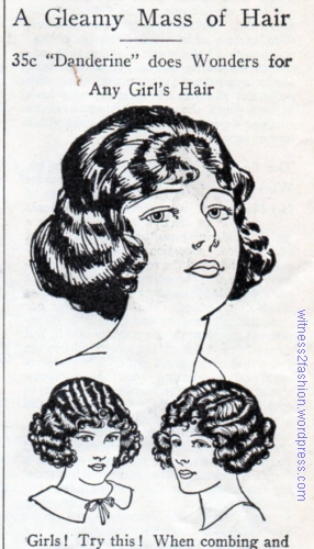 An ad for Danderine hair product, January 1925. Delineator.