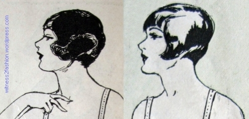 March, left, and January, right, 1925. Hair styles meant to look good under a cloche hat.