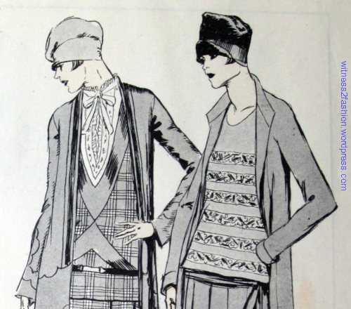 Hats shown with Premet and Chanel fashions in July, 1926. Delineator.