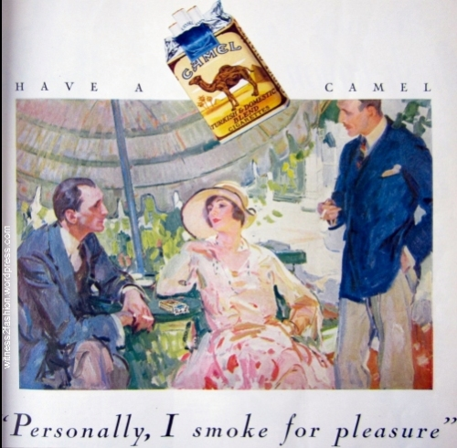 Camel Cigarette Ad, July 1928.