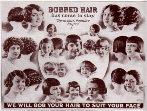 Display poster sold to barber shops in 1924. From