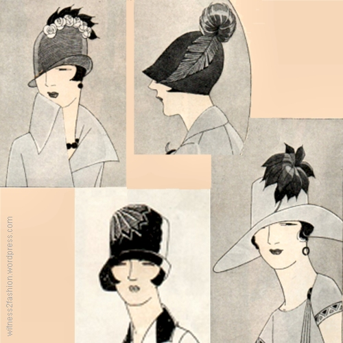 Four Hats for Spring, April 1925. Delineator.