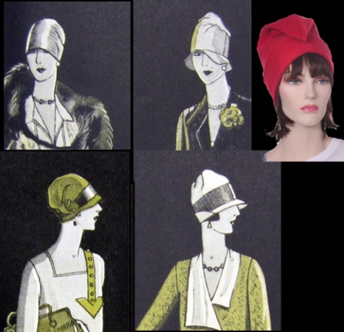 Phrygian caps influence cloche hats; Delineator, 1926/