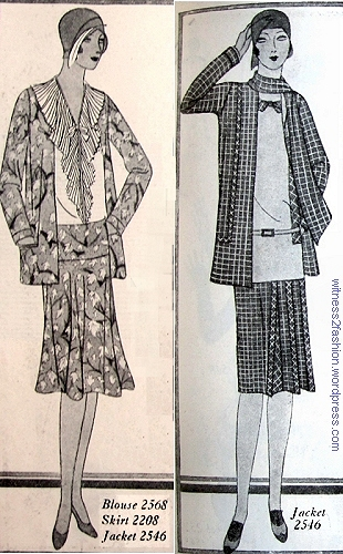 Two versions of Jacket pattern #2546