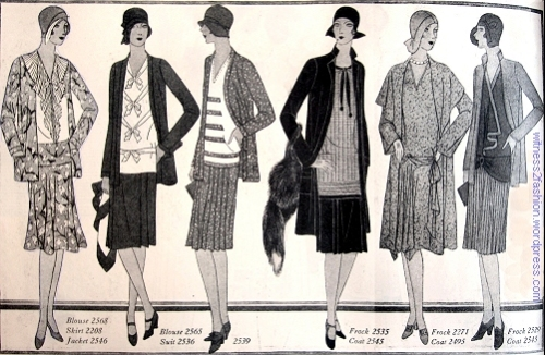 Ensembles for Spring, 1929. The Delineator, page 34.
