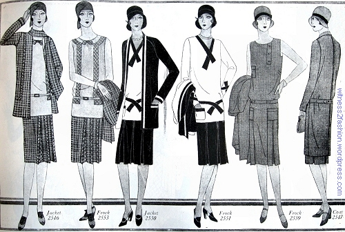 Spring jacket and coat ensembles; Butterick patterns from The Delineator magazine, April 1929.
