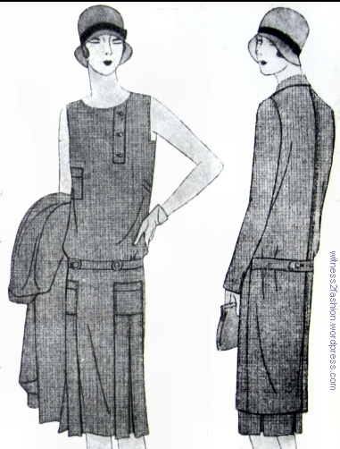 1929 april p 35 square armhole dress reefer coat