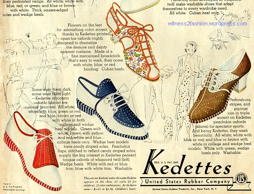 Bottom of page, Kedettes shoe ad, McCall's, July 1938.