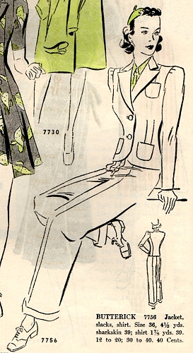 Butterick 7736, March 1938.