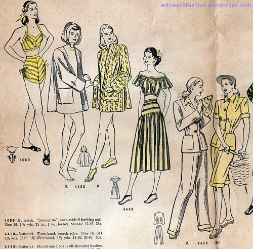 Butterick Fashion Newsflyer, March 1948.