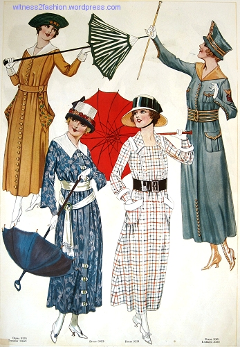 Another page of fashions from Butterick's Delineator Magazine, August, 1917.