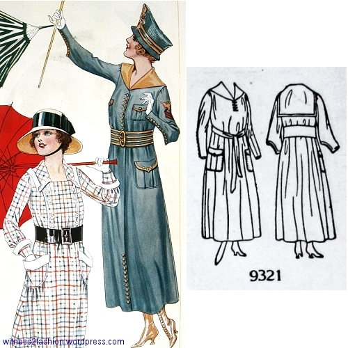 Butterick pattern 9321, Delineator, Aug. 1917.