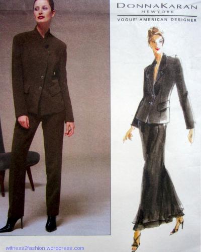 Vogue pattern 2165, Donna Karan, 1998.