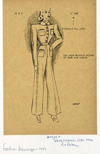 Andre Studio's sketch of a red wool