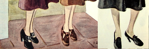 Shoes, 1936. Illustration by Ernst.
