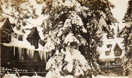 Postcard of Tahoe Tavern mailed in 1930.