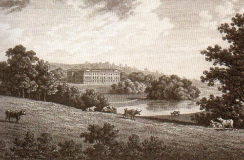 Trentham Hall, as it was. From Boase, The Housekeeper's Tale