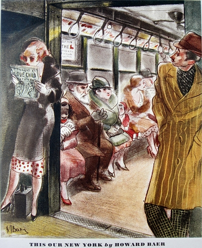 """This Our New York, cartoon by Howard Baer. Esquire, Autumn 1933."