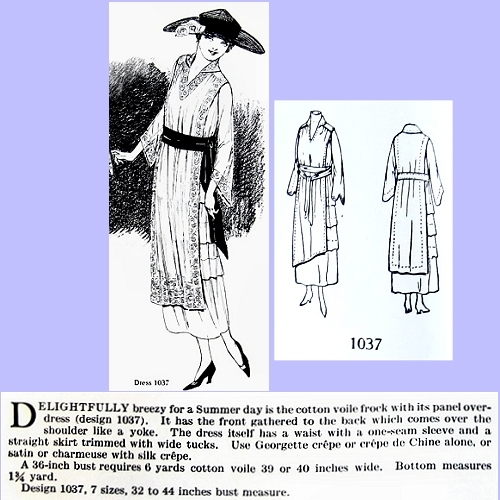 Butterick 1037, July 1918. Delineator, p. 52.