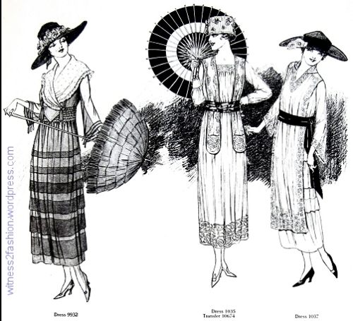 Butterick patterns from page 53, July 1918.
