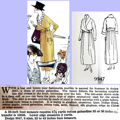 Butterick 9947, July 1918. Delineator, p. 52.