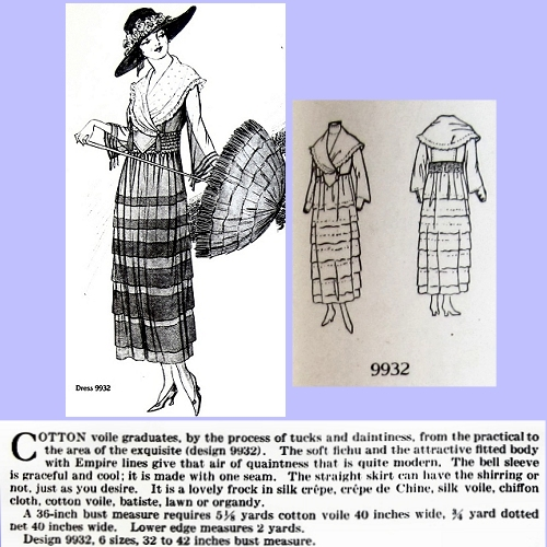 Butterick 9932, July 1918. Delineator, p. 52.