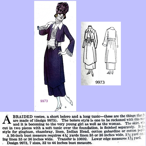 Butterick 9973, July 1918. Delineator, p. 52.