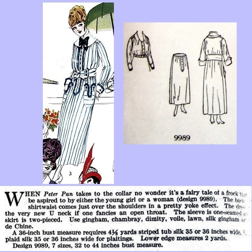 Butterick 9989, July 1918. Delineator, p. 52.